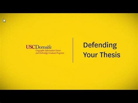 Defending a masters thesis